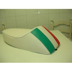 Asiento ancillotti blanco bandera Italia para vespa primavera