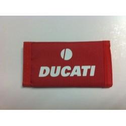 Llavero tela cierres velcro Ducati rojo