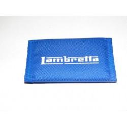 Llavero tela con velcro azul lambretta