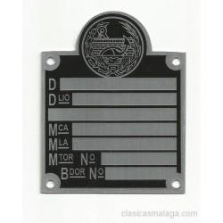 Placa ministerio negra