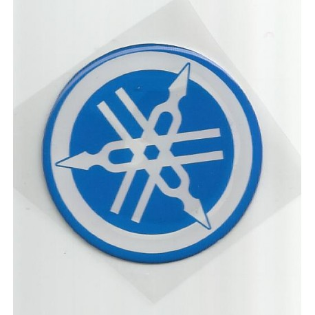 Adhesivo resina 40 mm Yamaha escudo azul