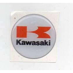 Adhesivo resina 40 mm logo yamaha azul fondo blanco