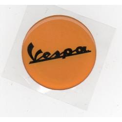 Adhesivo resina 40 mm vespa naranja letras negras