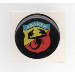 Adhesivo resina 40 mm Abarth negro