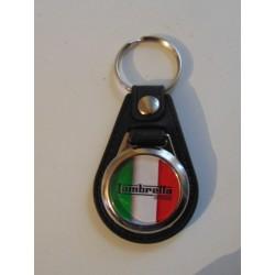 Llavero redondo simil piel Lambretta Italia