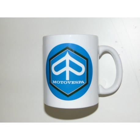 Taza ceramica blanca logo motovespa