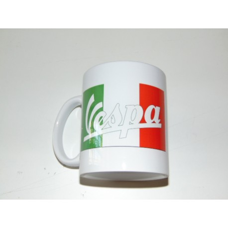 Taza ceramica blanca logo Italia
