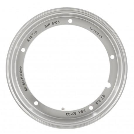 Llanta Tubeless SIP 210 x 10 Aluminio Pulido