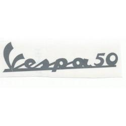 Anagrama vinilo cromado vespa 50