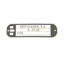 Adhesivo identificacion Vespa Pks  PK XL FL 125