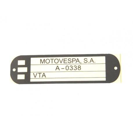 Adhesivo identificacion Vespa Plurimatic
