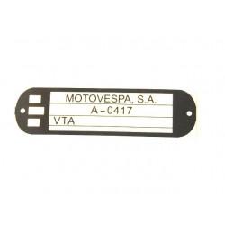 Adhesivo identificacion Vespa Cosa 125