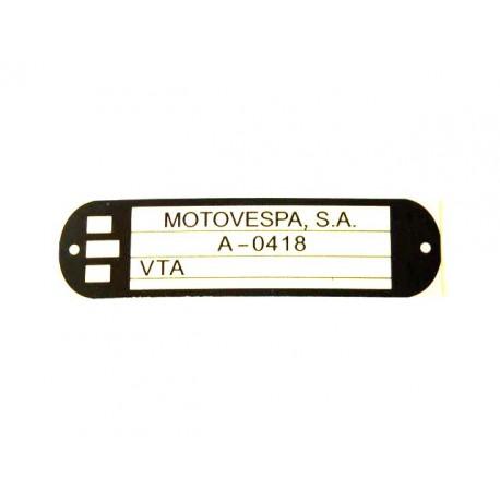 Adhesivo identificacion Vespa Cosa 200
