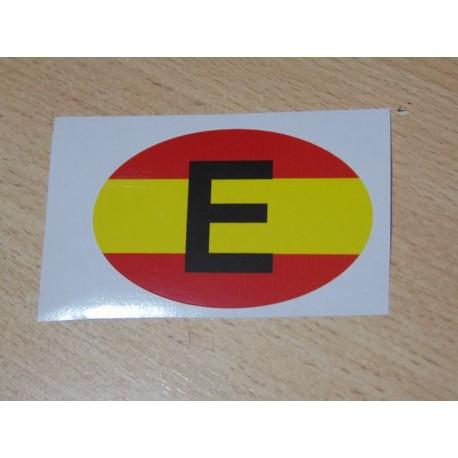 Adhesivo ovalado E España bandera