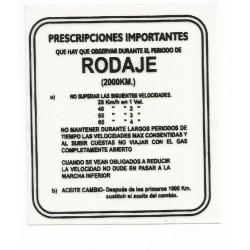 Adhesivo Rodaje