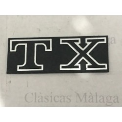 Anagrama TX plastico