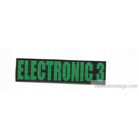 Adhesivo vinilo  electronic 3 verde